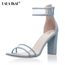 LALA IKAI Plus 10 11 12 Size Women Sandals 10cm Heels Shoes Transparent Clear Sandalias Mujer For Ladies Party Shoes 01C0724-5