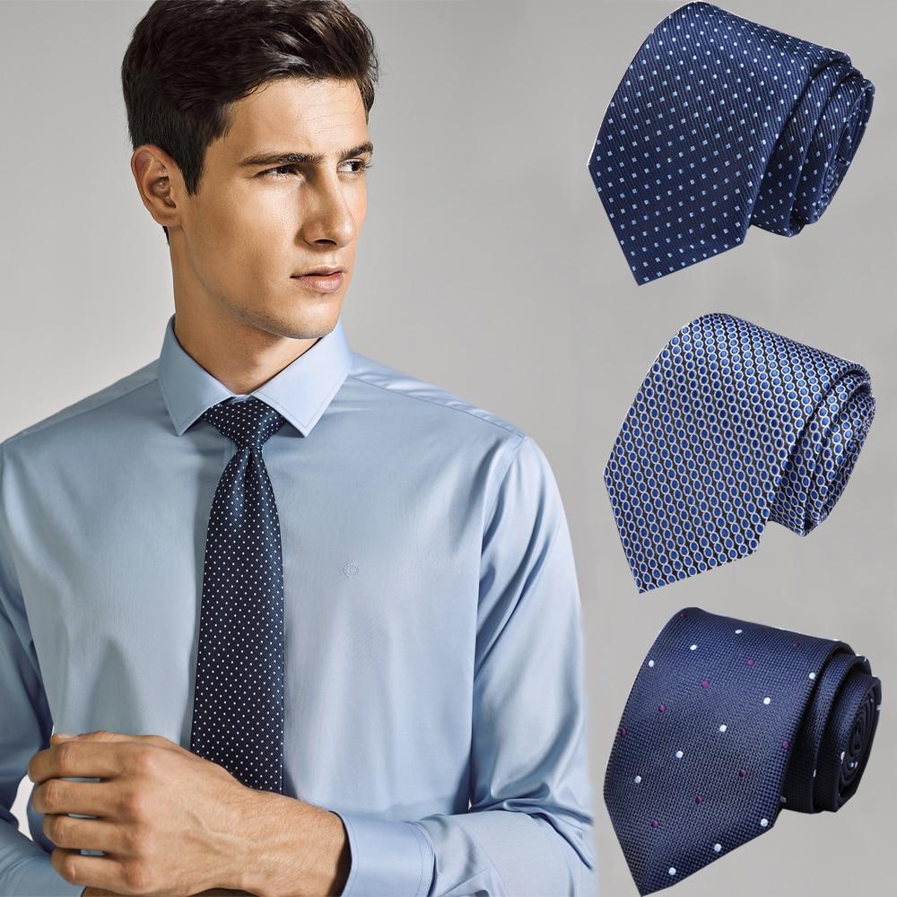 50 Styles Men's Ties Solid Color Stripe Flower Floral 7cm Jacquard Necktie Accessories Daily Wear Cravat Wedding Party Gift