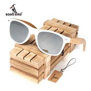 Image 1 - BOBO BIRD Handmade Sunglasses Women 2020 New Fashion Bamboo Legs Eyewears Colorful Polarized Lens Glasses oculos de sol feminino