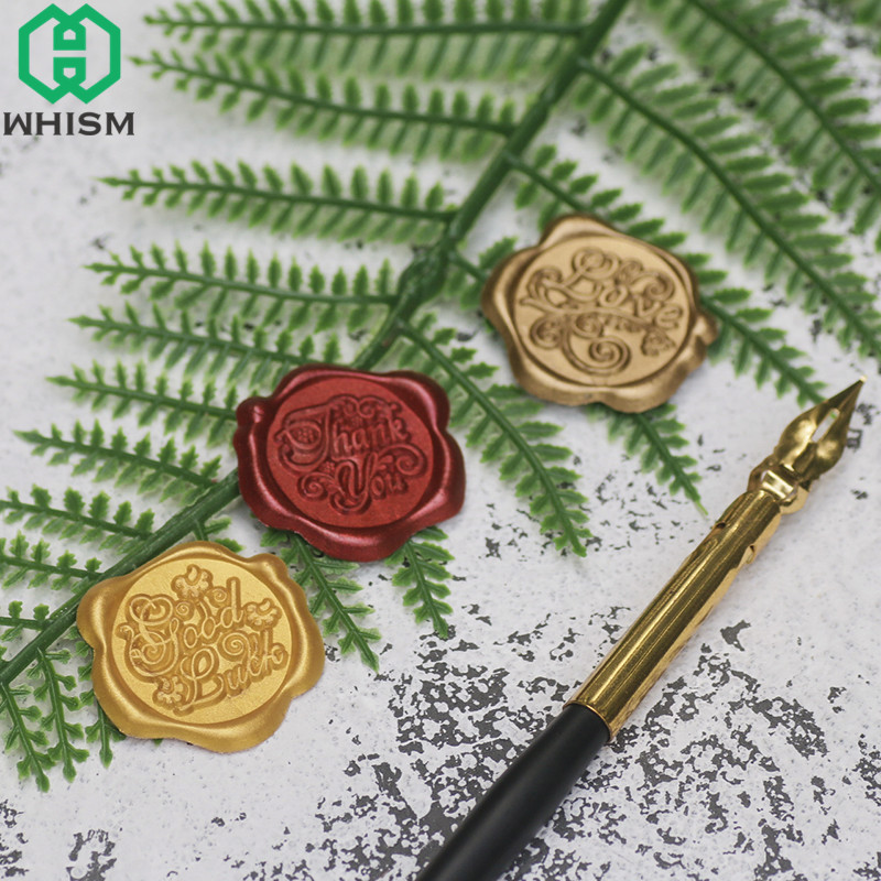 WHISM Vintage Wax Seals Sticker Self Adhesive Seal Wax Tags Sealing Wax Stamp Stickers For Wedding Invitation Letter Decoration