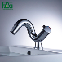 FLG Hot Sale Chrome Finishing 360 Degree Rotate Brass Single Lever Water Tap Bathroom Sink Mixer Basin Faucet