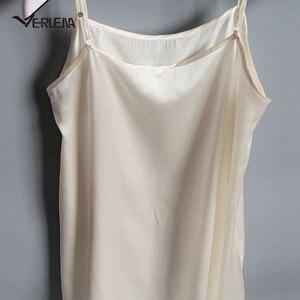 Image 4 - Verlena vestido de verano de talla grande de seda, 100%, negro, largo, sin mangas, tirantes, 2019 cm