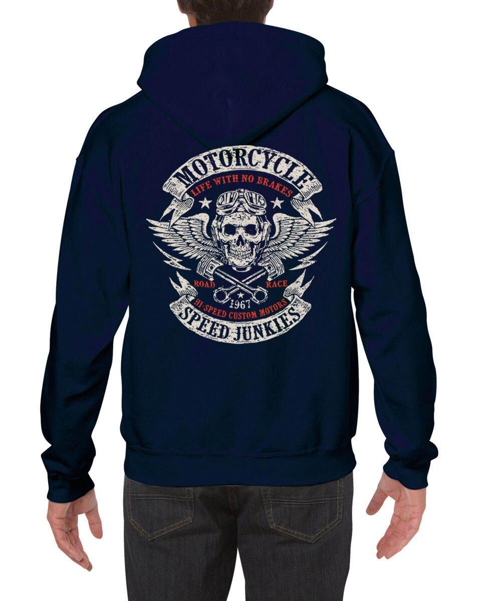 Funny Clothing Casual Hoodies MOTORCYCLE SPEED JUNKIES Biker Chopper Motard MC Sweatshirt in Hoodies amp Sweatshirts from Men 39 s Clothing