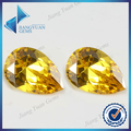 50 Pcs Pear Forma 5A 3x5-10x12mm Gemas Sintéticas CZ Pedra Ouro Amarelo Cúbicos de Zircônia Para A Jóia