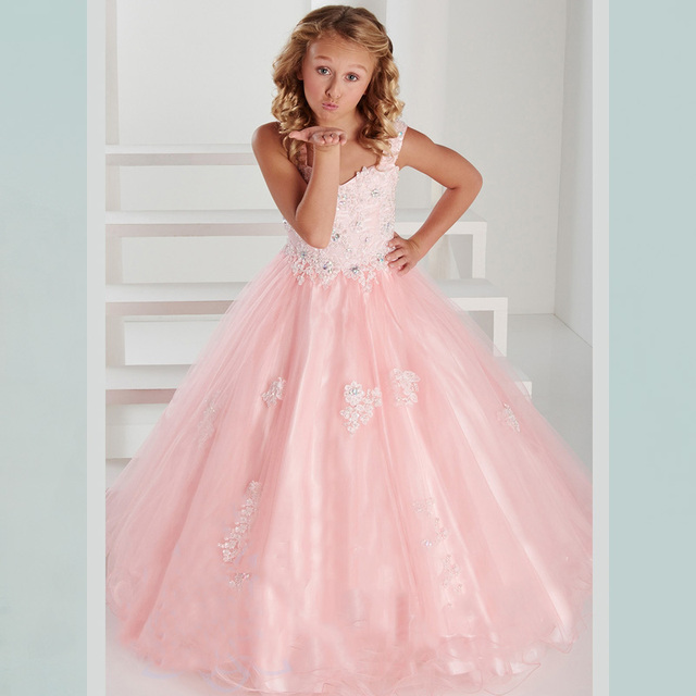 9c7128ce10 2016 New Arrivals Little Girl Bridesmaid Dresses Sweetheart Light Blue Pink  Top Quality First Communion Dresses For Girls WH