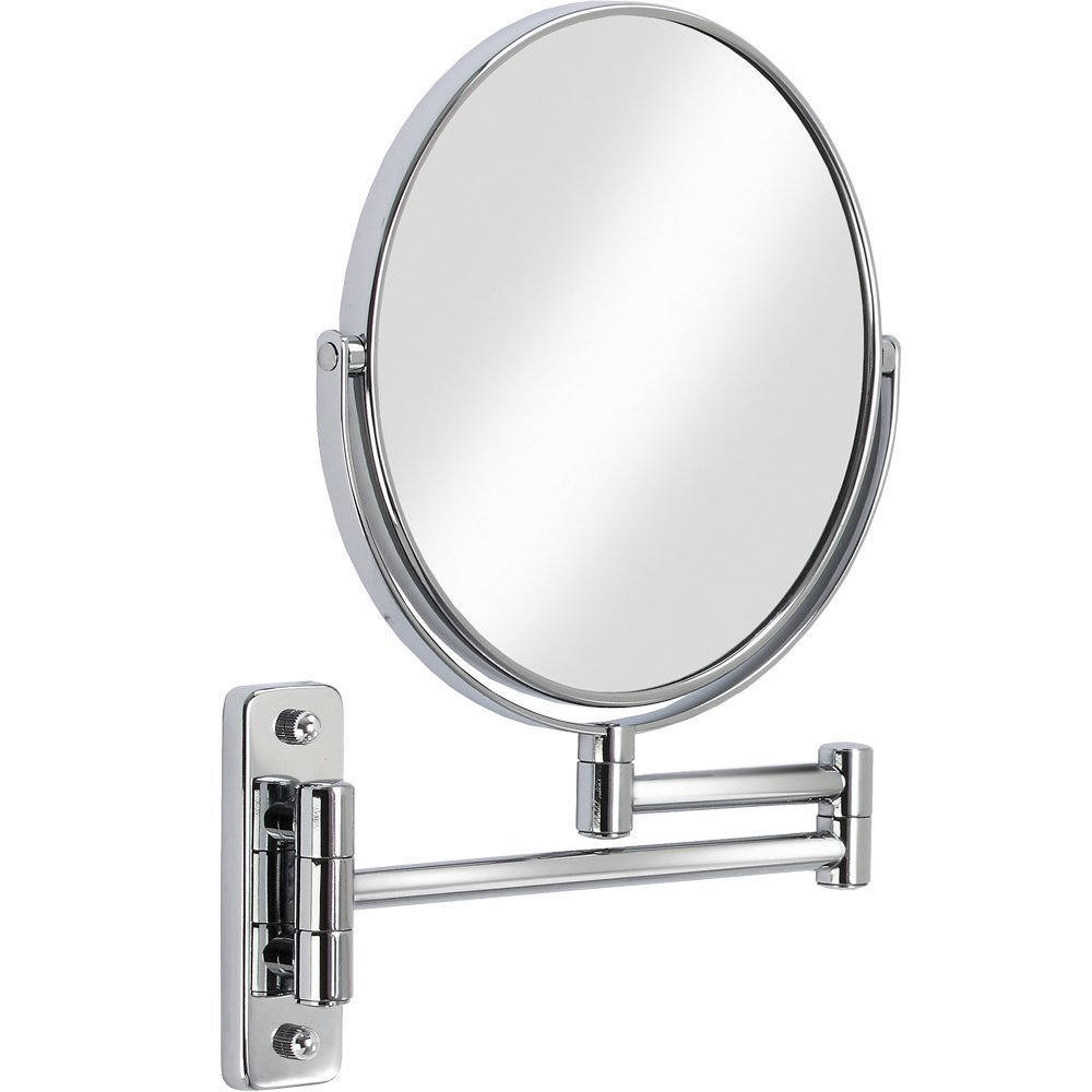 Chrome Bathroom 1X 3X Magnification HD Glass Two-Sided Swivel Wall Mount Mirror 8-Inch cosmetic mirror,360 degree rotation