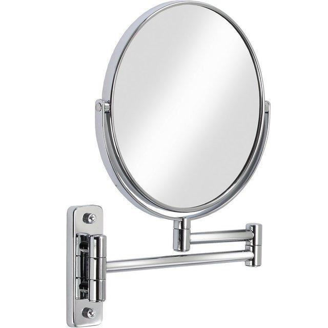 Chrome Bathroom 1x 3x Magnification Hd Gl Two Sided Swivel Wall Mount Mirror 8