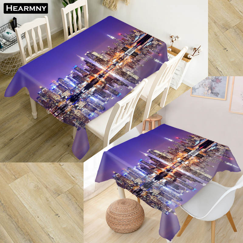 Custom New York City Tablecloth Waterproof Oxford Fabric Square Rectangular Tablecloth For Wedding Table Cloth Cover Tv Covers Tablecloths Aliexpress