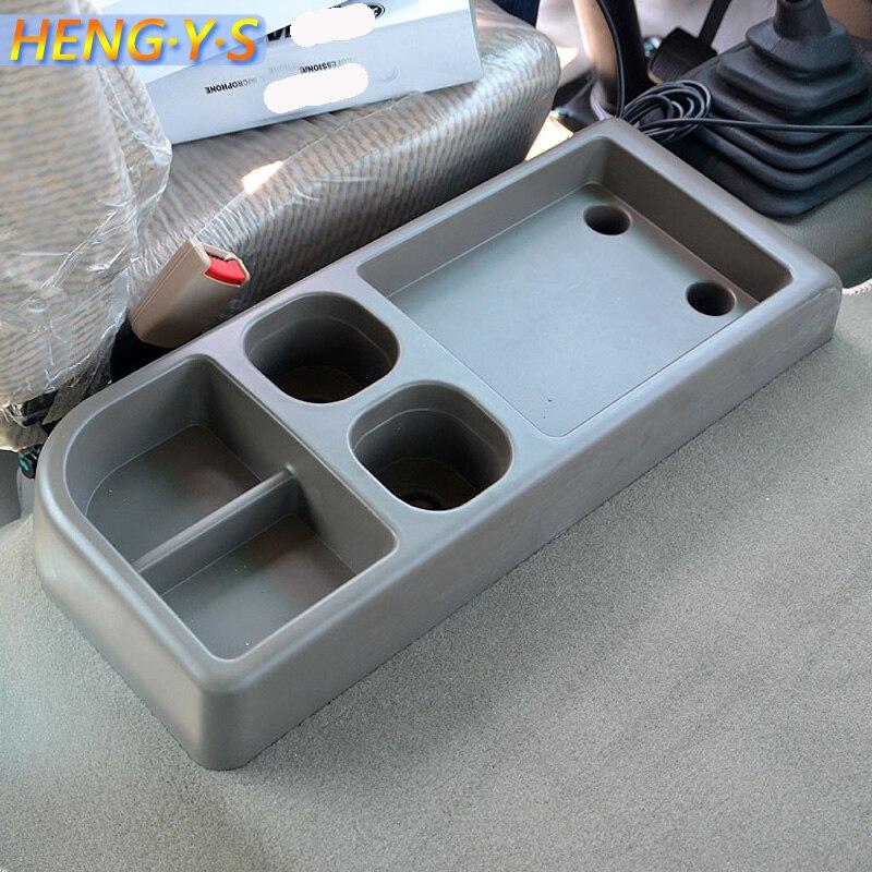 1 pièces boîte de rangement de voiture boîte de rangement de véhicule sur capot de moteur siège de tasse de bus moyen pour toyota coaster accessoires de voiture de tourisme