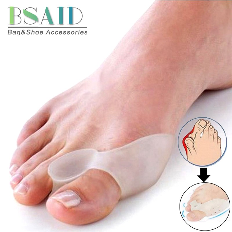 BSAID 1 Pair Silicone Gel Straighteners Orthotic Insole Stretchers Relief Pain Professional Hallux Valgus Corrector Insert