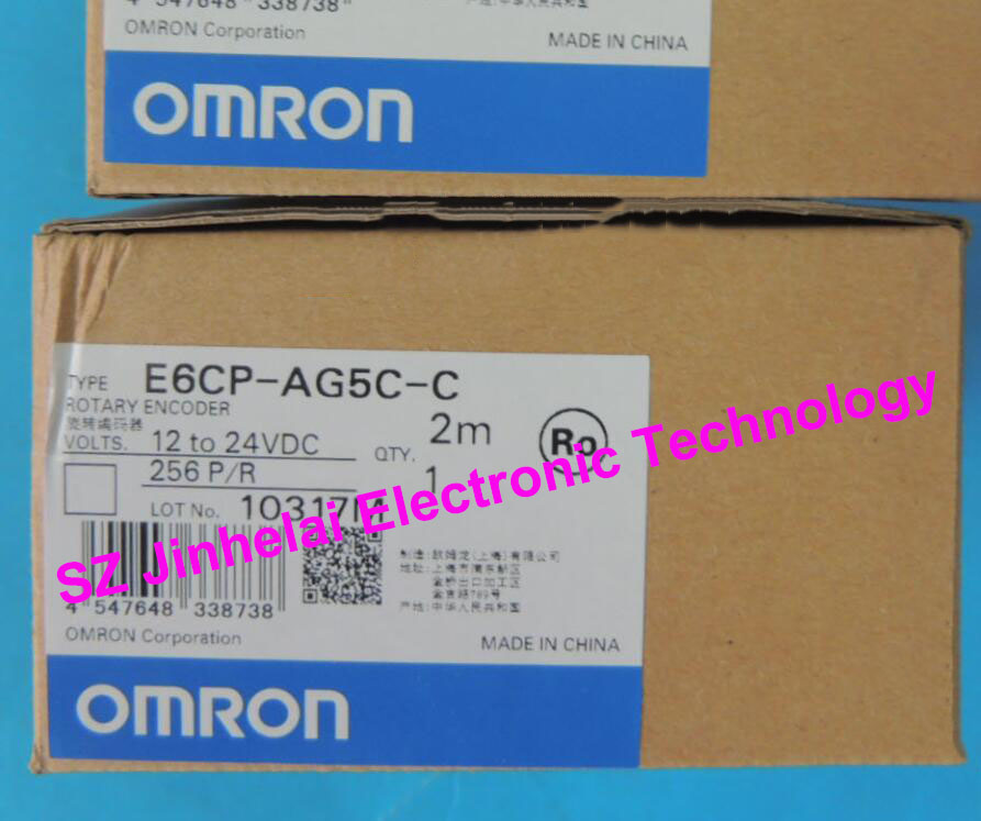 New and original  E6CP-AG5C-C  256P/R   OMRON  ROTARY ENCODER  12-24VDC   2M dhl ems one new original for omron e6a2 cs3c e6a2cs3c rotary encoder 200p r new free ship