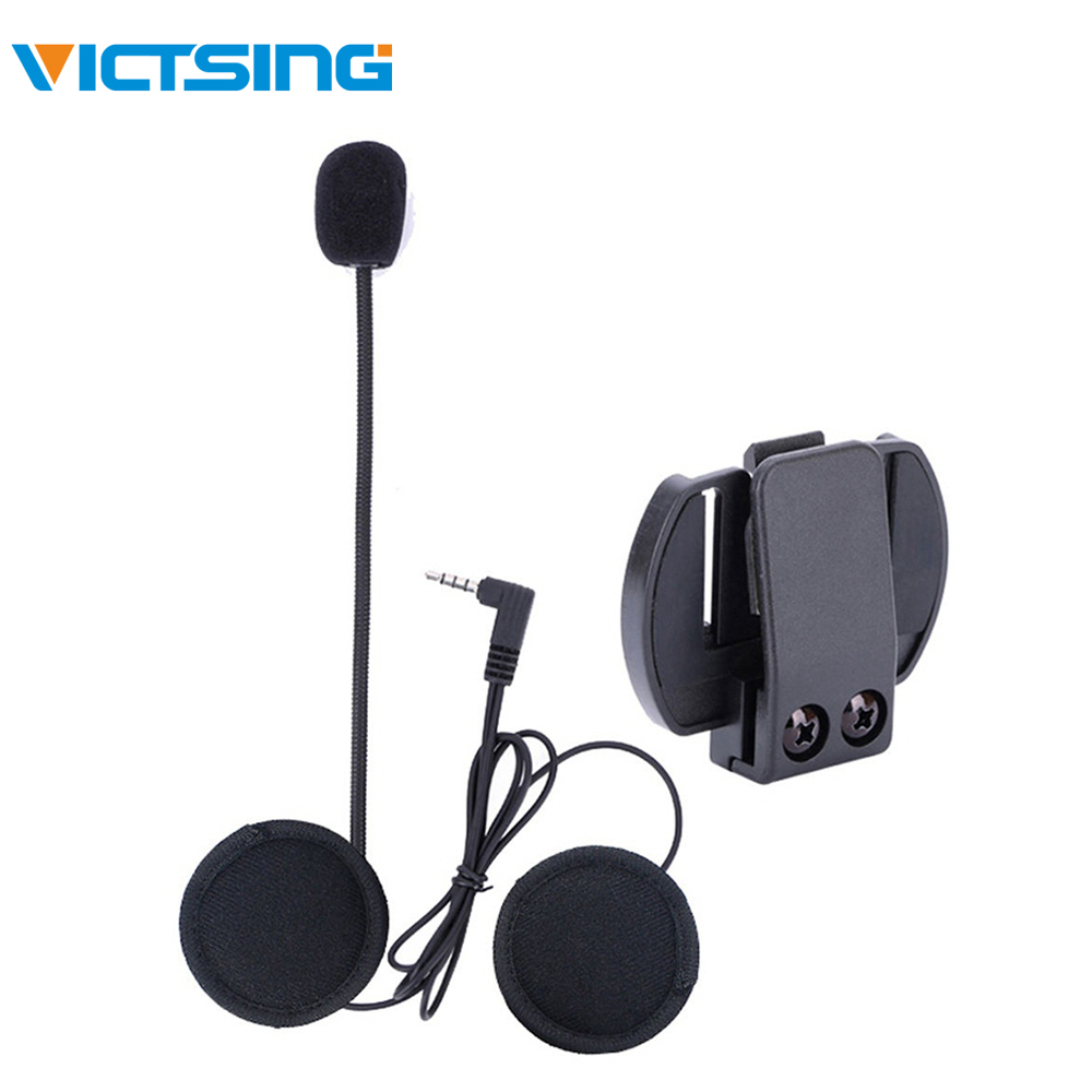 VicTsing Wired Headset Mic/Speaker For V4/V6 Motorcycle Bluetooth Helmet Intercom With Clip Intercomunicador Moto Accessories
