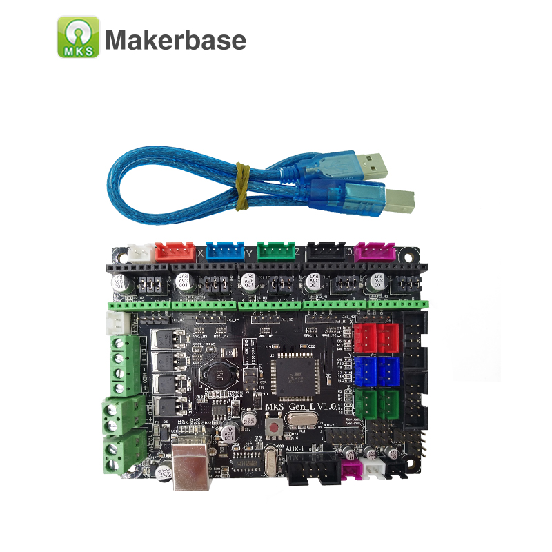 3D printer board MKS Gen L V1.0  controller compatible with Ramps1.4/Mega2560 R3 support A4988/8825/TMC2208/TMC2100 drivers  soaringe e00316 3d printer kit mega2560 board ramp 1 4 extend shield 4 a4988 stepper drivers