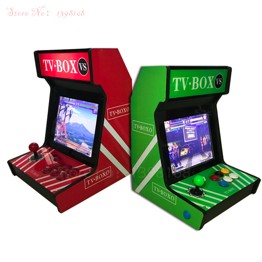 4: 3 Table top arcade machine 12 inch video games console with Pandora's Box 4S plus Game Cabinet 815 in 1 jamma game board double joystick family arcade games console pandora s box 4s 815 in 1 game board
