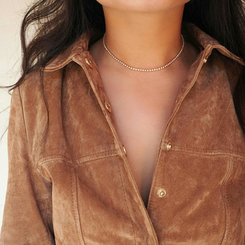 Gold Silver 100% Necklace Europe and the United States Simple Temperament Necklace Female Clavicle Necklace Single Product 2018