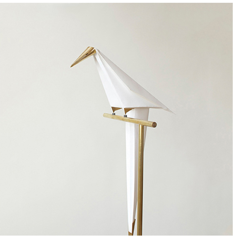 Image 2 - Bird Paper Floor lamp Nordic gold floor light Bedroom living room origami light Study Reading table lamp Deco Luminaire-in Floor Lamps from Lights & Lighting
