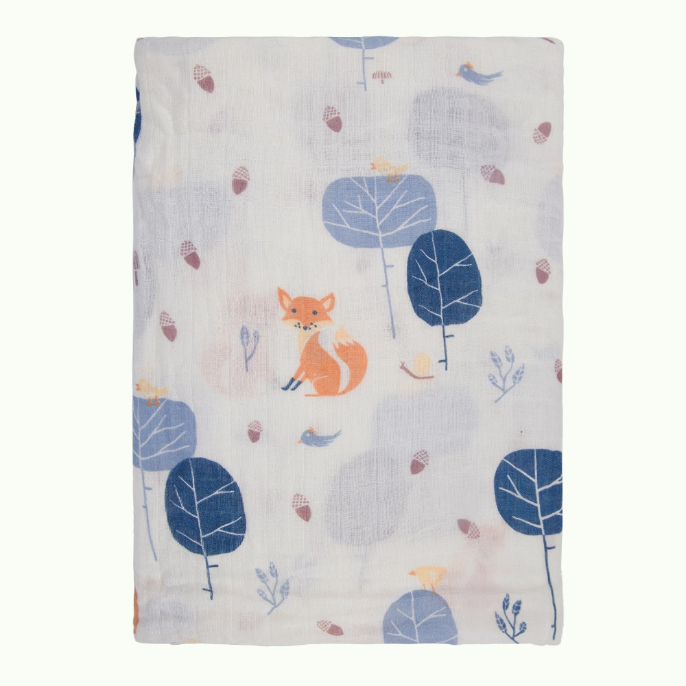 Baby Receiving Blanket Soft Swaddle wrap 70% Bamboo 30% Cotton Square Muslin Cloth Towel Stroller Blanket Nursing Cover Unisex