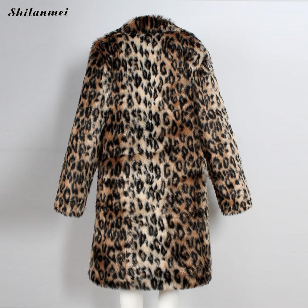 Outwear Suave Los Nuevo Tamaño Piel Plus Hombre Espesar Abrigos 2018 Chaquetas Sintética Largo Hombres Abrigo Xxxl Leopardo De Invierno SUpwnO1qw