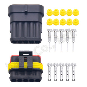 10 sets Kit 5 Pin 5P Way DJ7051-1.5-11/21 AMP 1.5 Waterproof Electrical Wire automotive Connector Plug for car