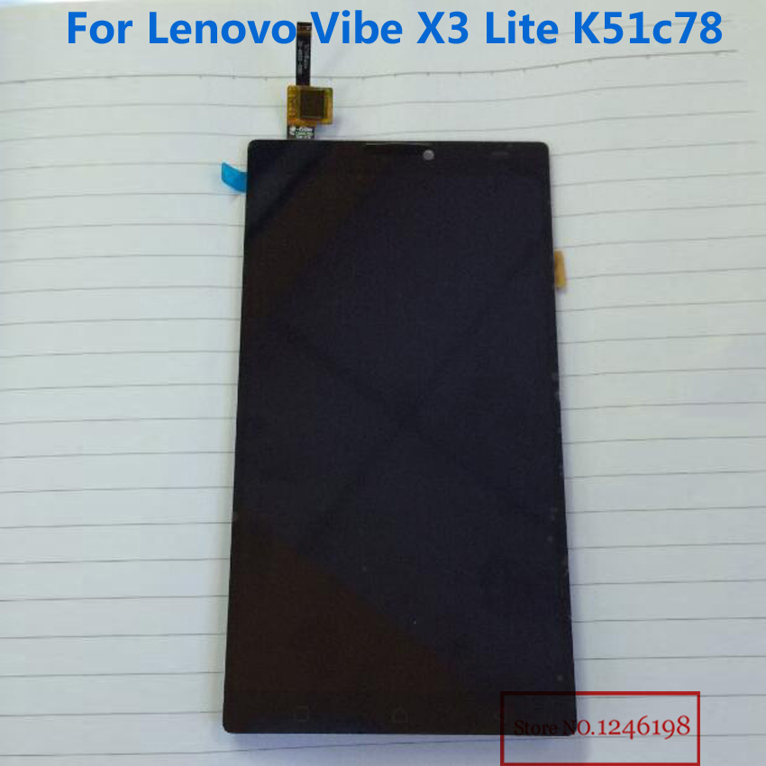NEW Arrival Black LCD Display + Touch Screen Digitizer Assembly For lenovo Vibe X3 Lite K51c78 X3Lite Phone Replacement Parts