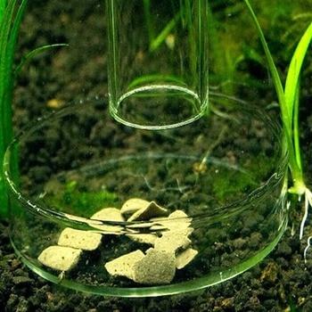 Acrylic Crystal Ornamental Shrimp Feed Dish Aquarium Aquatic Tank Snail Fish Food Feeder Bowl Cup Basin Tray Container Drop Ship