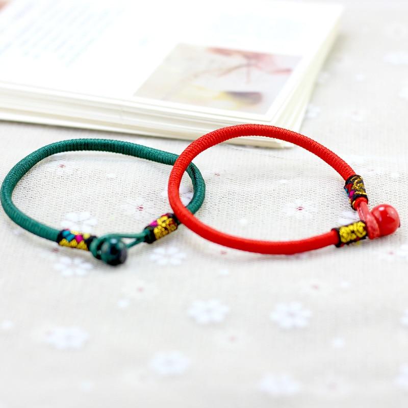 Pop Women Lucky Bracelets Bead Red String Ceramic bracelets bangles Men Handmade Accessories Lovers Lucky Jewelry in Charm Bracelets from Jewelry Accessories