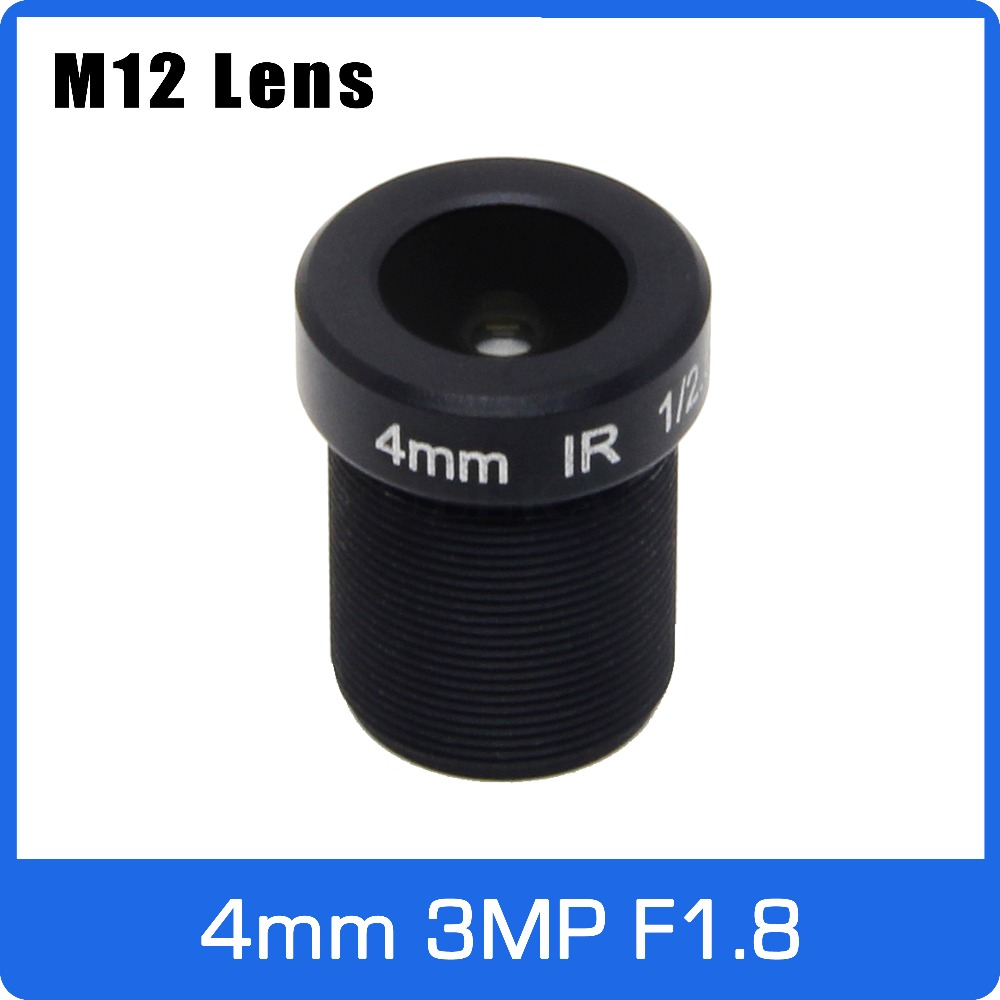 3Megapixel 4mm Fixed 1/2.5 Inch With Big Aperture F1.8 CCTV Lens For HD 1080P IP Camera AHD CCTV Camera Free Shipping