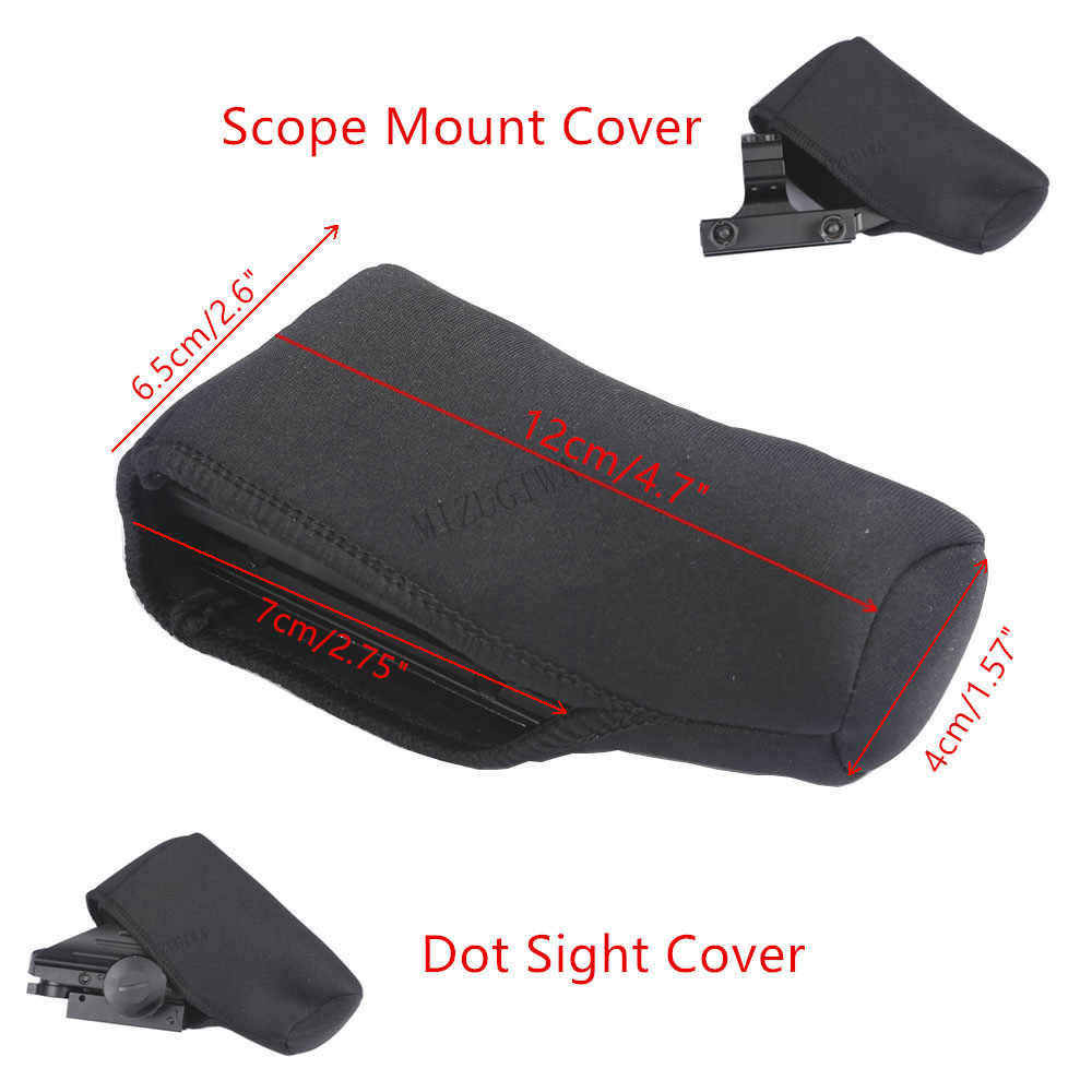 "Scope Mount Cover Dot Sight Cover Bescherm Neopreen Scope Cover Beschermende Jacket Black 4.7 ""x 2.6"" Tactical Hunting geweer Gevallen"