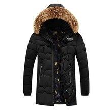 Мужская зимняя стеганая теплая верхняя одежда, куртка и парка для мужчин 160