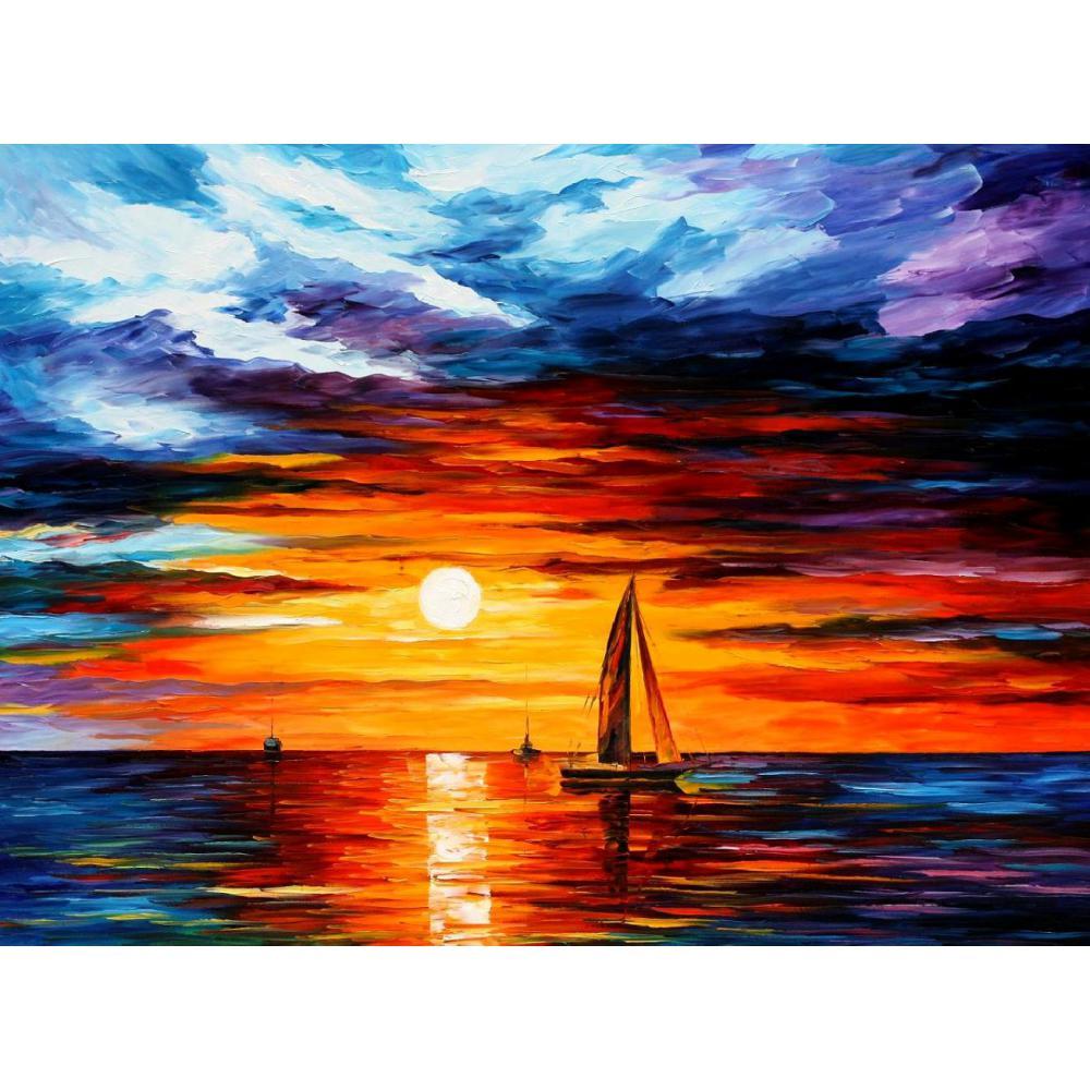 Paesaggi dipinti di arte moderna in vendita tocco di horizon coltello pittura a olio paesaggi