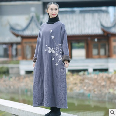 Product release in the winter  2016, the original design printing 100% cotton linen loose big yards women cotton-padded clothes цена и фото