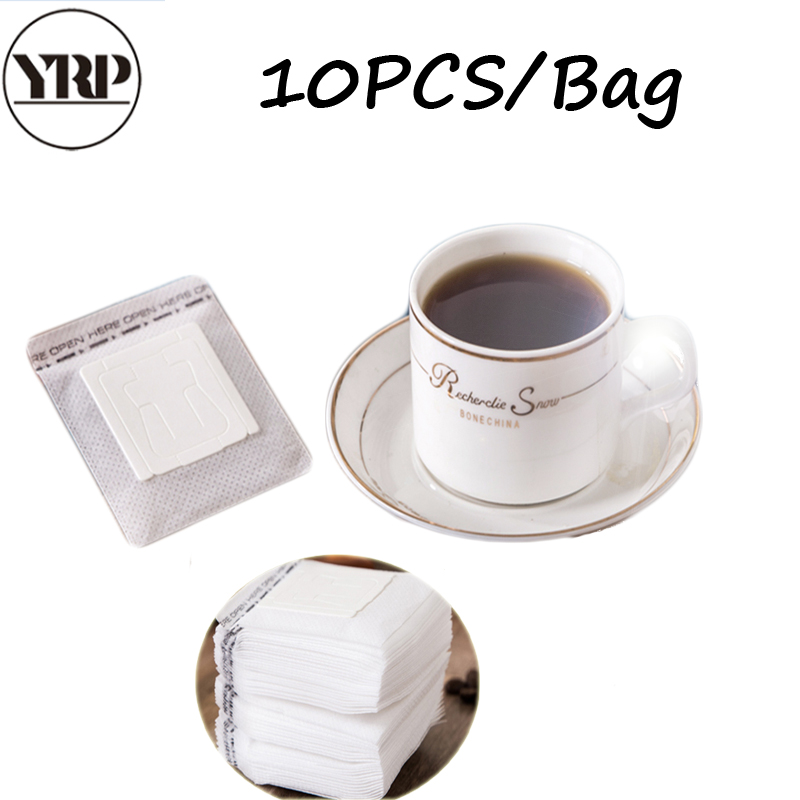 YRP 10pcs Refillable Coffee Paper  Filter Bag Hanging Ear Style Paper Filters Suitable For Coffee Cup Drip Home Brew Tools