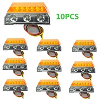 10x Amber 15 LED Side Marker Cab Light Clearance Bulb Truck Trailer Caravan SUV ATV