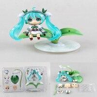 Hatsune Miku cartoon 493 # snow miku snow bell Ver. 10cm Nendoroid action model figure collection figurine with box T7485