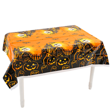 Halloween Theme Disposable Tablecloth Party Decorations Pumpkin Head PE Plastic