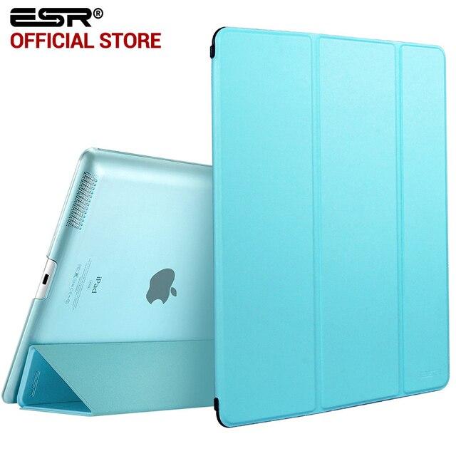 Cas pour iPad 2 3 4, ESR Youpi Couleur PU Transparent Retour Ultra Mince Lumière Poids Trifold Smart Cas de stand de Couverture pour iPad 2/3/4