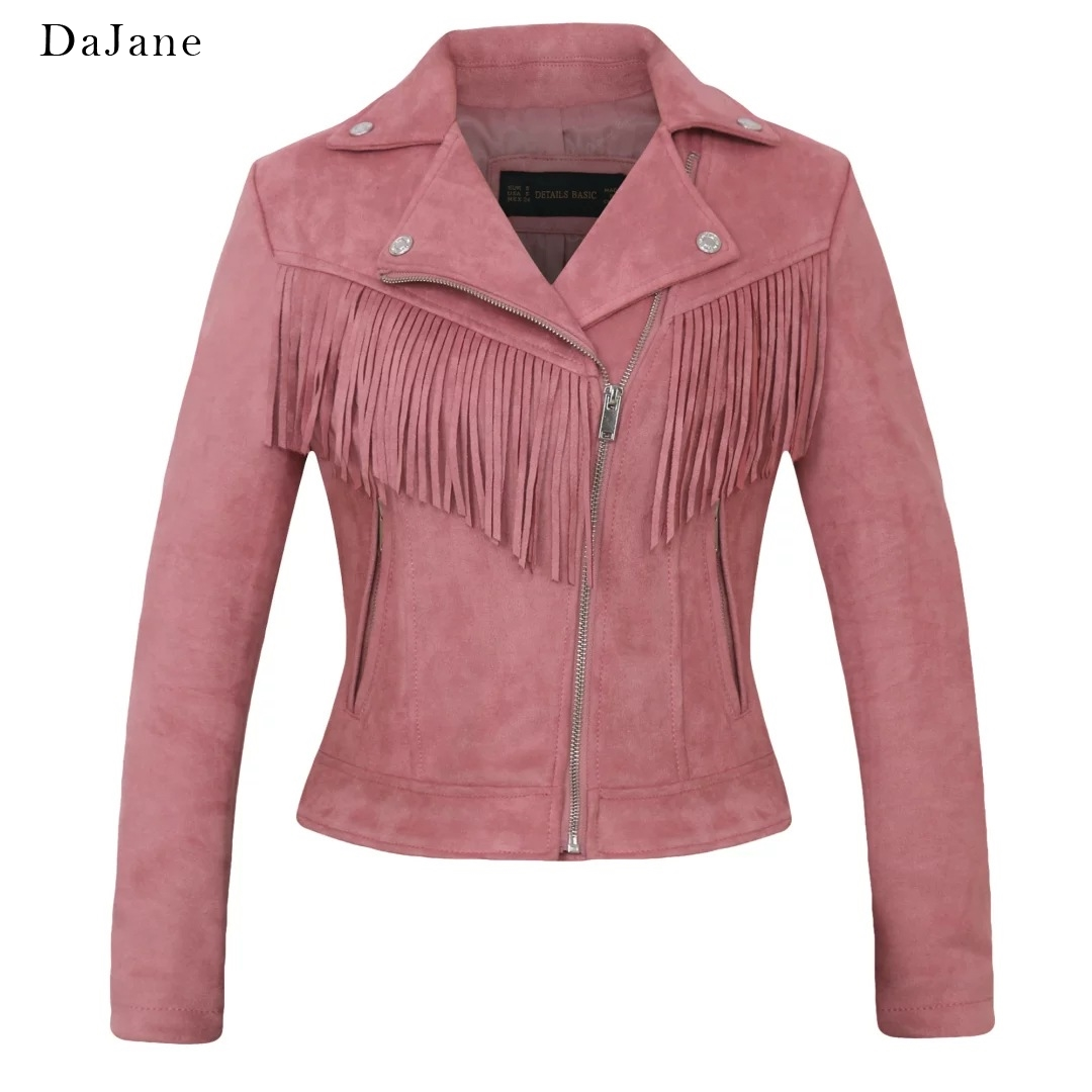 Autumn New Couple In This women's   Suede   long-sleeved Tassel   Leather   Coat Jacket Manufacturers   Leather   Jacket Women