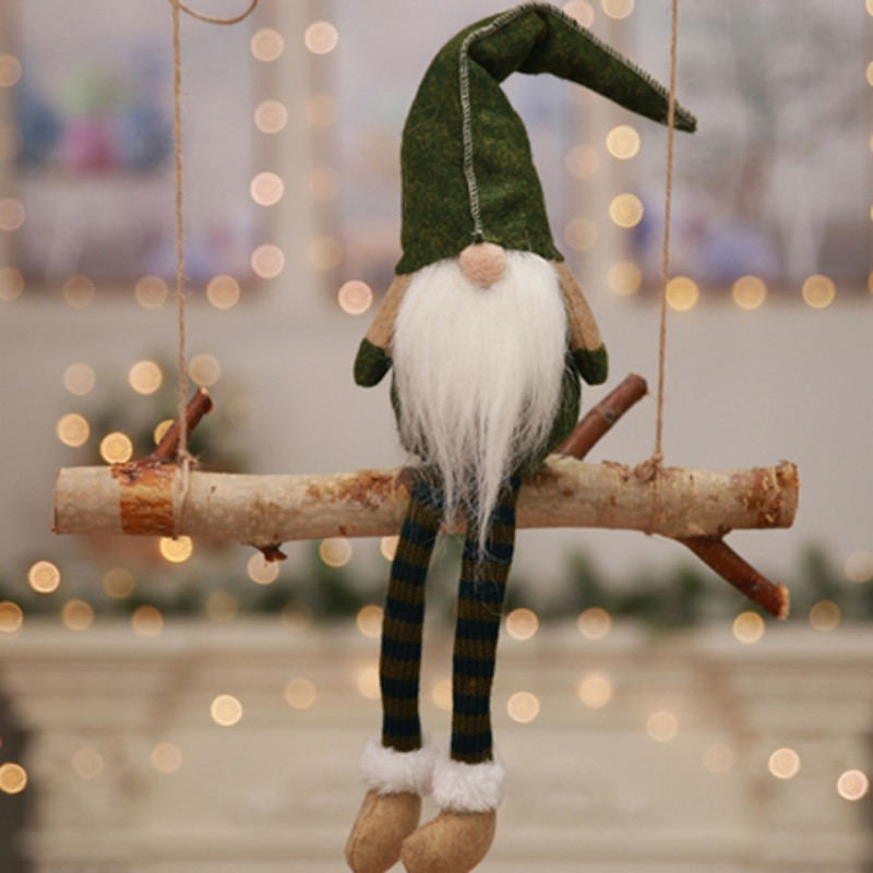 Christmas Decorations All Year Long: Cute Elf Doll Sitting Long Legs New Year Festival Party