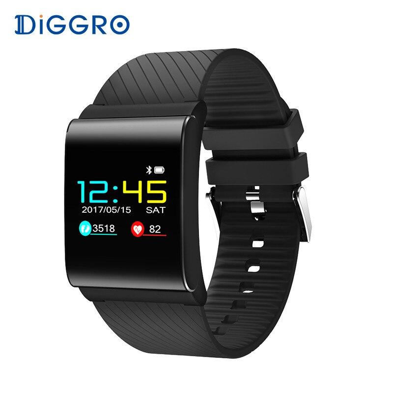 Diggro DB-01 Smart Armband Band Farbe OLED Blutdruck Blutsauerstoffsättigung Monitor Herzfrequenz Fitness Tracker Armbänder pk X9 Pro