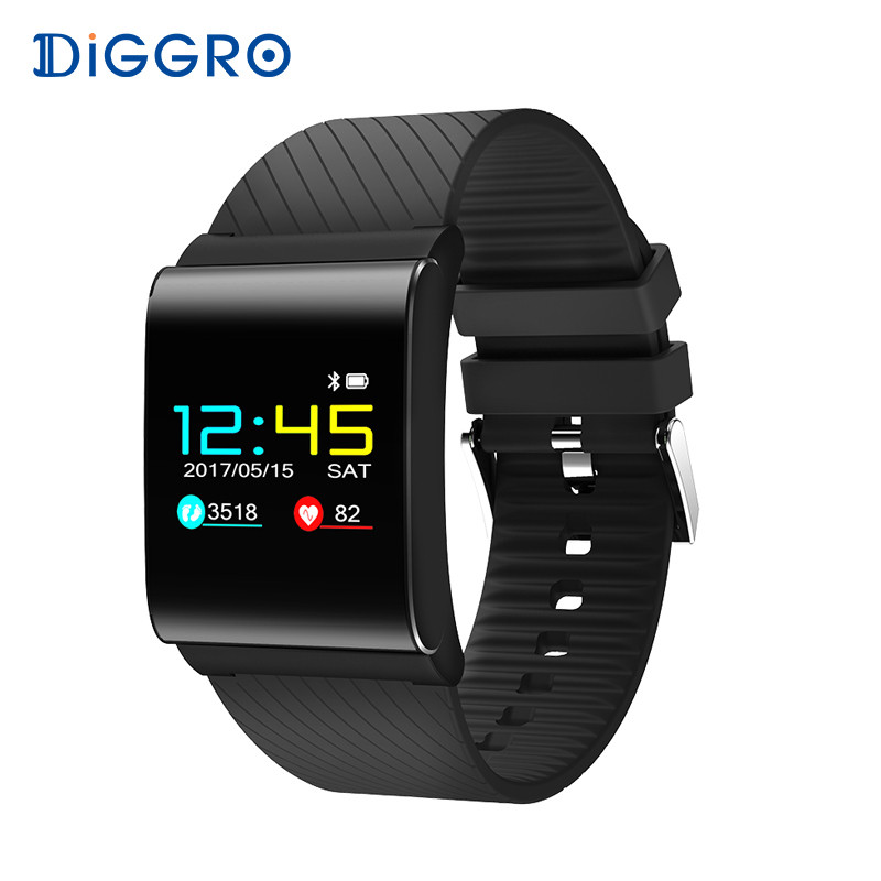 Diggro DB-01 Smart Bracelet Band Color OLED Blood Pressure Blood Oxygen Monitor Heart Rate Fitness Tracker Wristbands pk X9 Pro