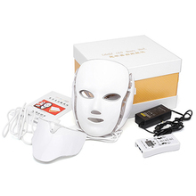 LED Facial Mask With Neck Skin Rejuvenation Beauty Therapy Blue Light Treatment Acne Tighten Pores  Face Whitening Instrument photodynamic led facial mask daily beauty instrument anti acne skin rejuvenation led photodynamic beauty mask for face neck ear