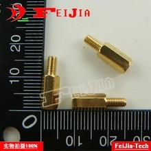 High-M3 Bolts Hexagonal 6-Copper-Pillars 10mm 50pcs/Lot Fasteners Hardware Column