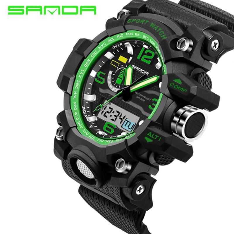 SANDA topmerk luxe heren sport horloge mode digitale sporthorloge - Herenhorloges