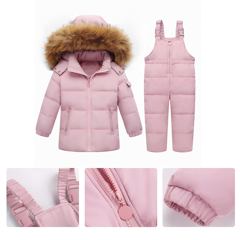 Winter Children Baby Kids Duck Down Jacket Set Pants-Jacket Autumns Boy Clothing Parka Hoodies Outerwear Girls Coat Jacket недорго, оригинальная цена