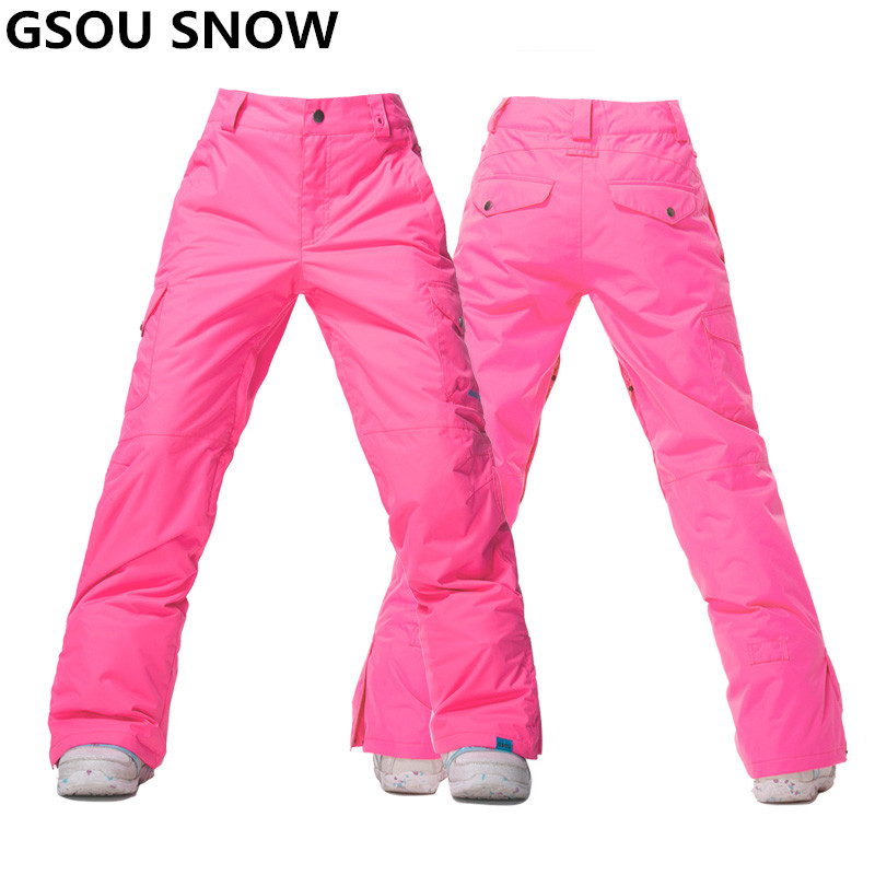 Gsou Snow Winter Snowboard Pant women waterproof thermal Ski Pant Snow Trousers outdoor skiing and snowboarding ski trousers 2017 hot sale gsou snow high quality womens skiing coats 10k waterproof snowboard clothes winter snow jackets outdoor costume