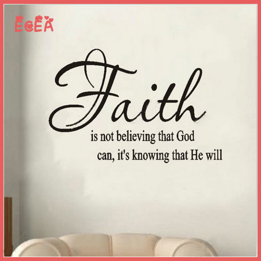 832e8a70fe88 Inspirational Wall Decals Faith Wall Decals Quotes Creative Home Decoration  Diy Decorative Wall Sticker Quotes Vinyl Sayings -in Wall Stickers from  Home ...