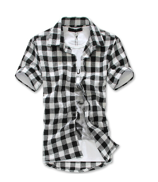 Mens short sleeve flannel shirt artee shirt for Mens black short sleeve dress shirt