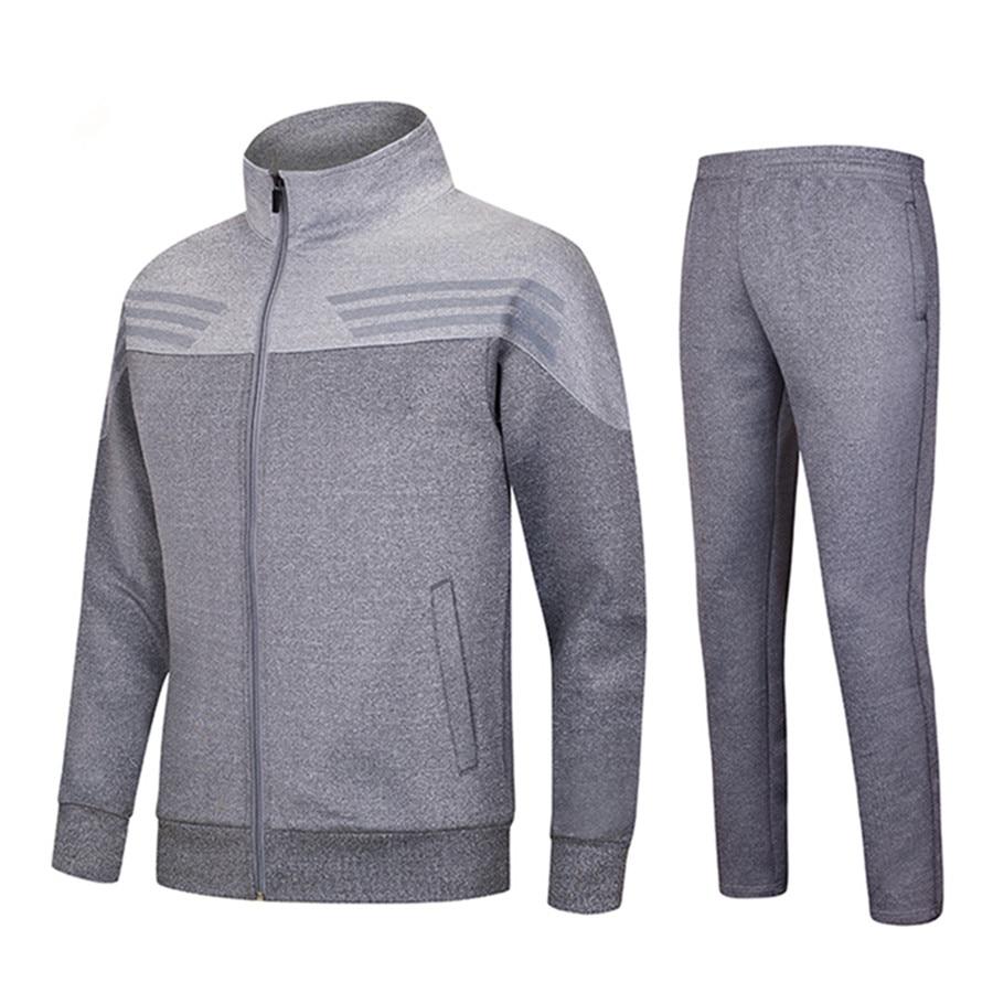 2017 New Winter Survetement Football cotton Men Football Jerseys Set Blank Soccer Jerseys Suits Training Pants Tracksuit Uniform 2015 camisetas de futbol survetement soccer jerseys