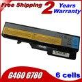 5200 mah bateria do portátil para Lenovo E47G E47L IdeaPad G560 G565 G465 G470 G475 G570 G770 G780 V360 V370 V470 V570 Z370