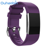 Ouhaobin 6 Pack Multi-Colors Soft Silicone Adjustable Replacement Strap Band Fitness Wristband For Fitbit Charge 2 Sep 28